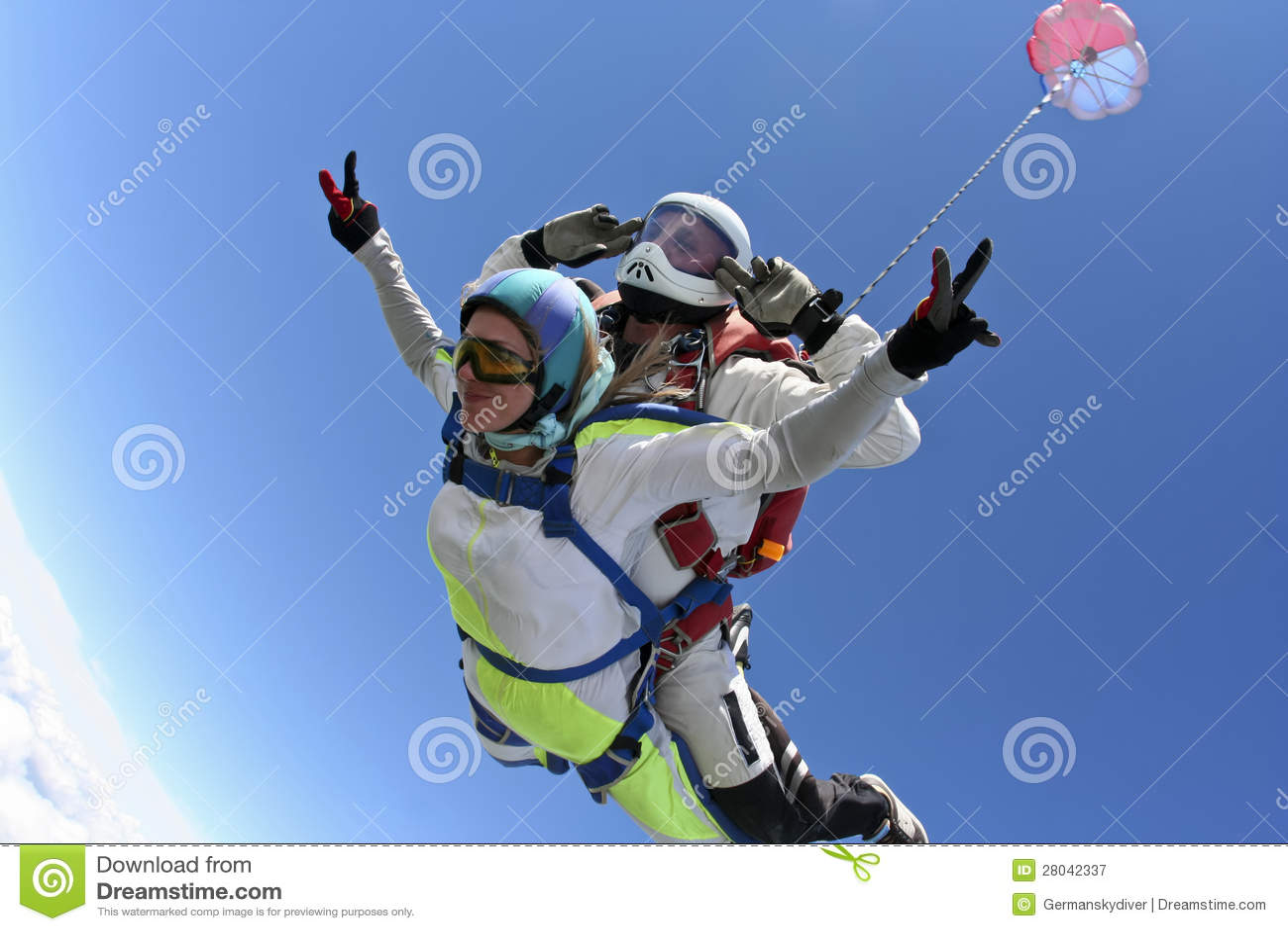Skydiving fotografia. Tandem.