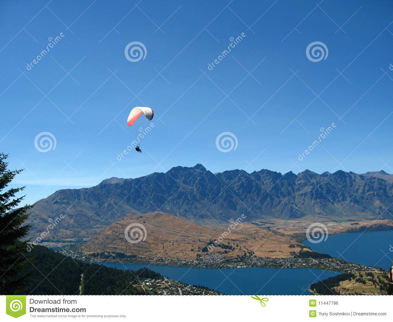 Skydiving Queenstown New Zealand Stock Photo Image Of Picture