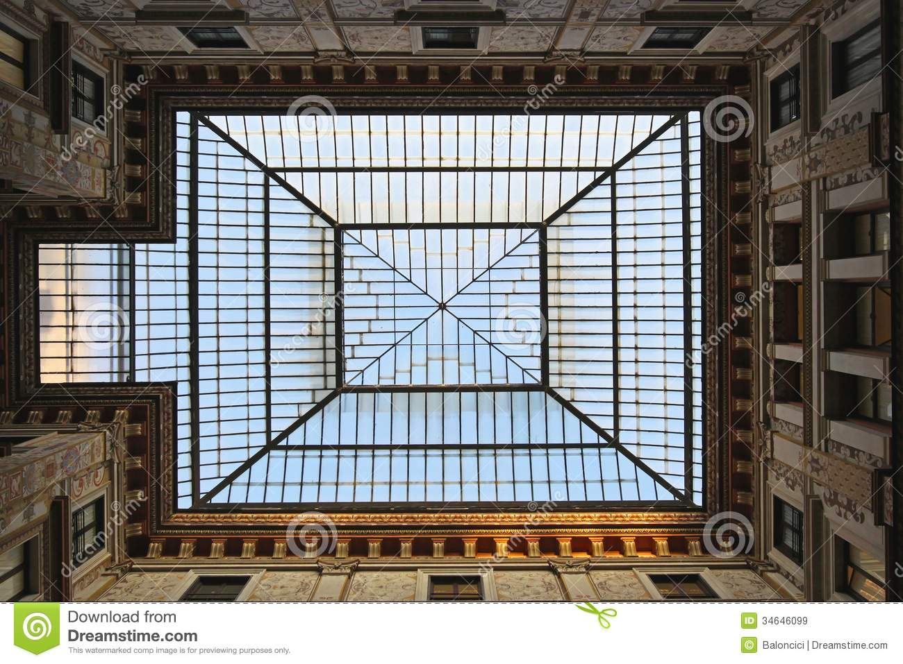 Window In Ceiling skylight royalty free stock images - image: 34646099