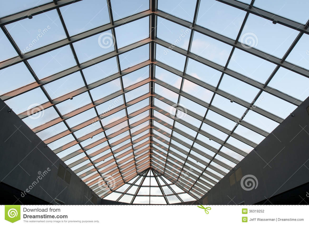 Skylight Ceiling At Dusk In Commercial Office Building Stock Photography - Image: 36319252