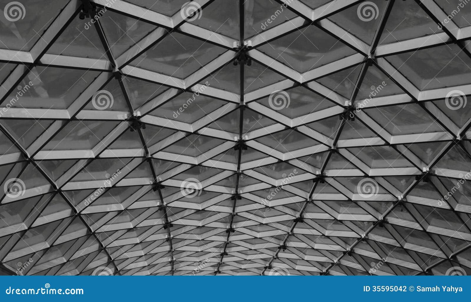 Skylight ceiling stock photo. Image of monochrome, steel - 35595042
