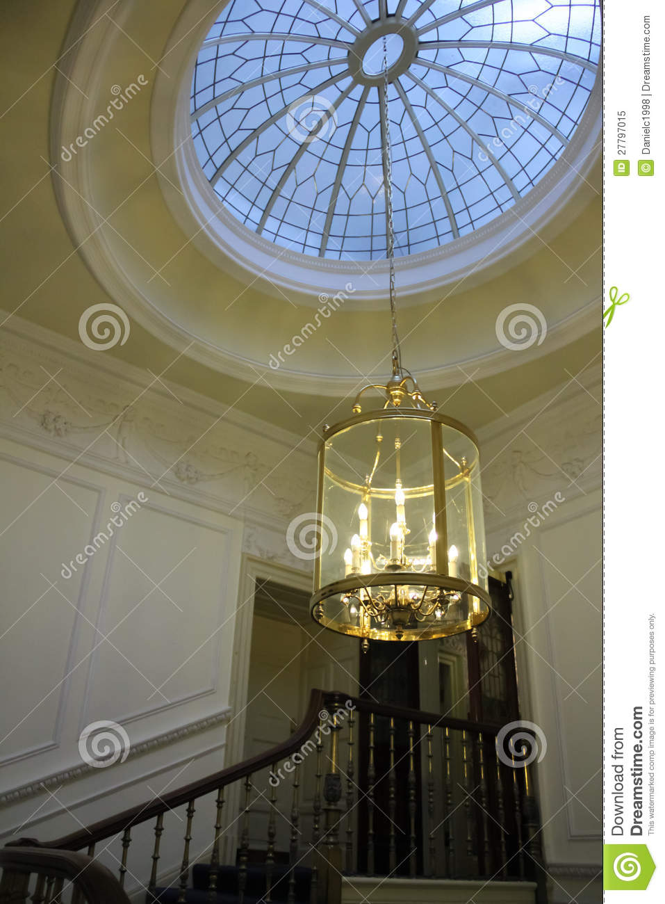 Skylight And Chandelier Royalty Free Stock Photo Image