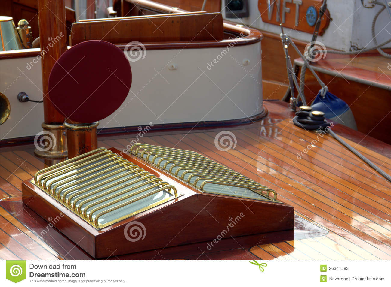 Skylight on classic yacht stock image. Image of boat ...