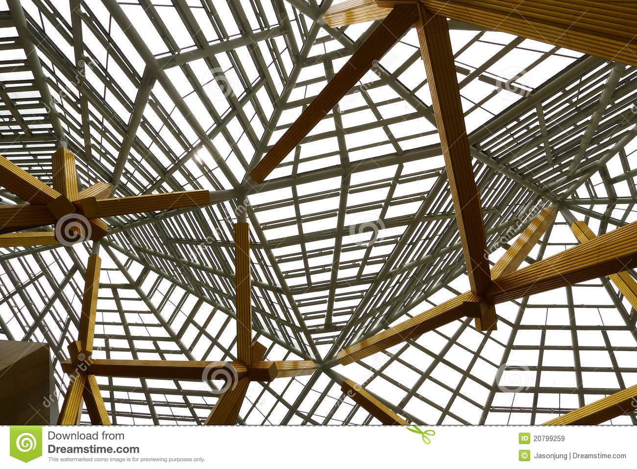 Skylight Framework Architecture Royalty Free Stock Images