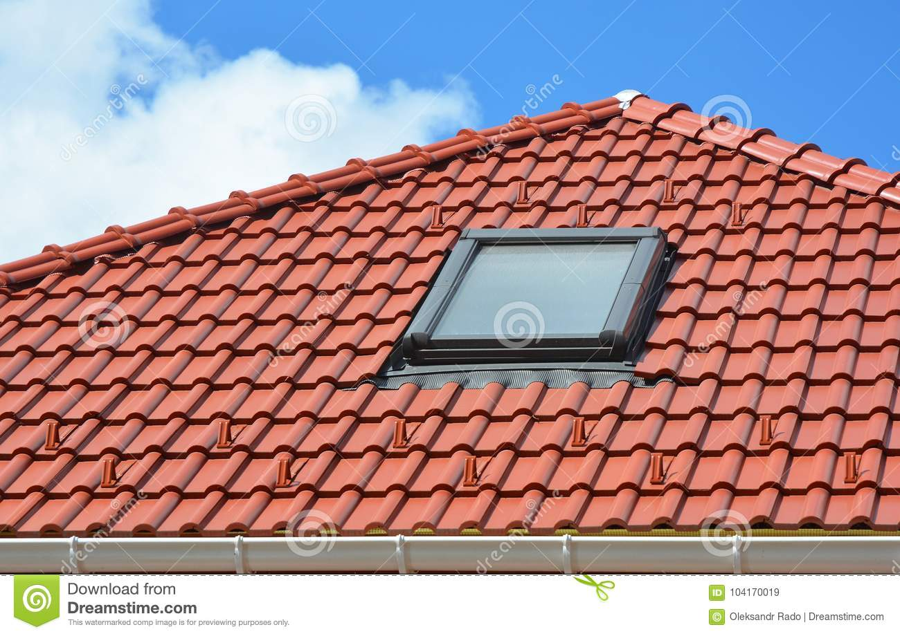 Skylight On Red Ceramic Roof Tiles House Roof Modern Roof