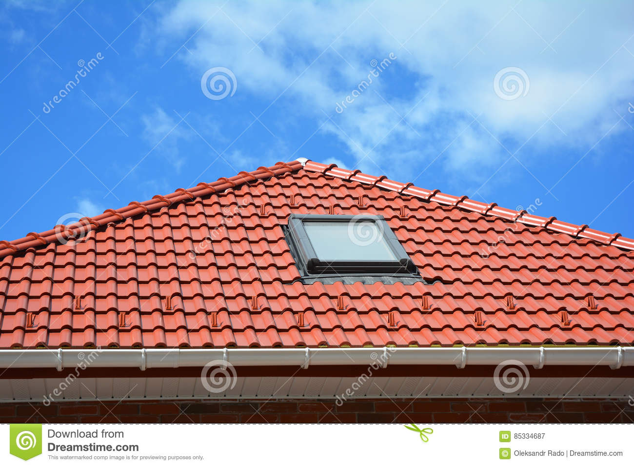 Skylight Of A House Attic Royalty Free Stock Image