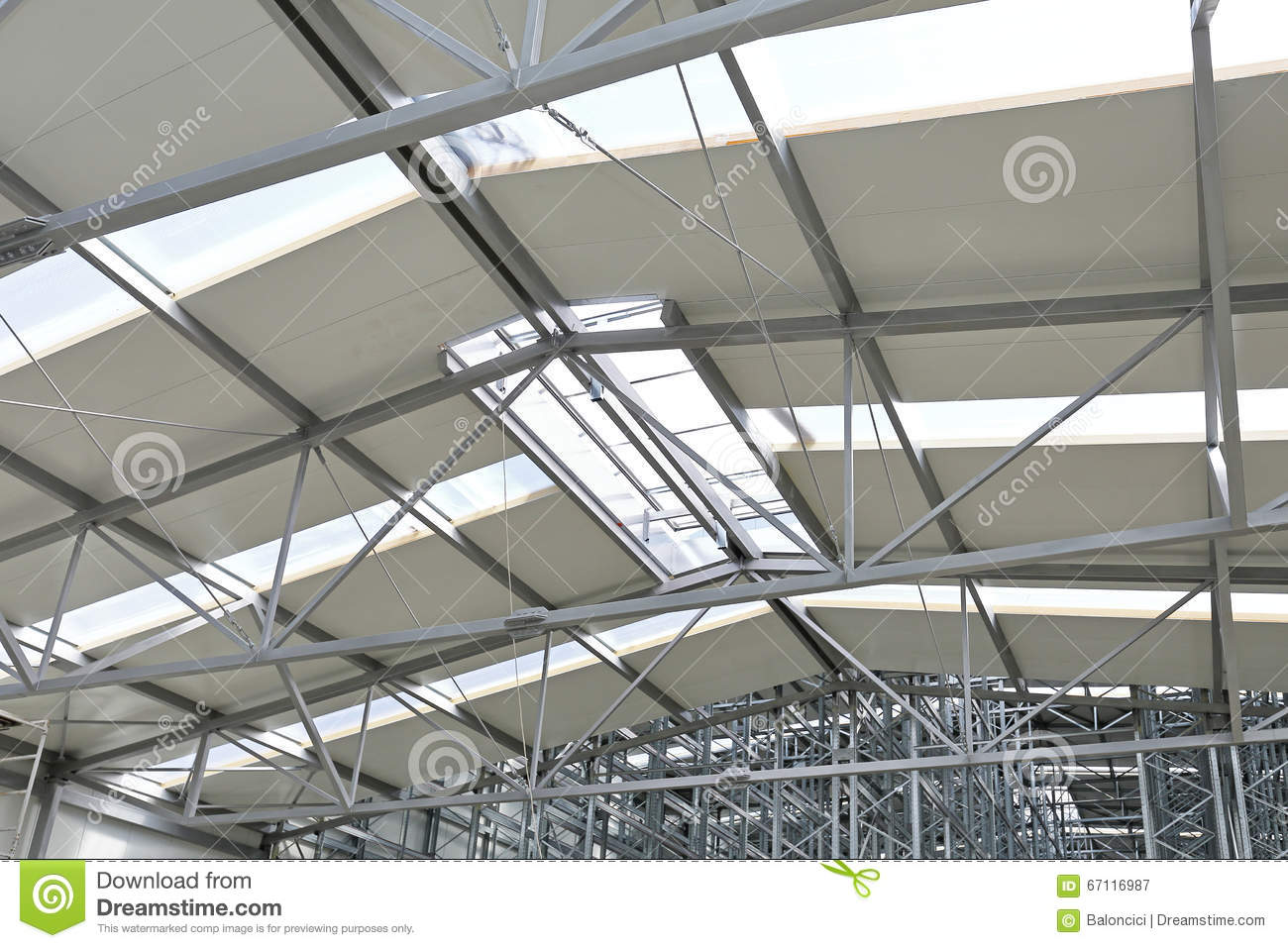 Skylight window in warehouse stock image image 67116987 - Skylight house plans natural light ...