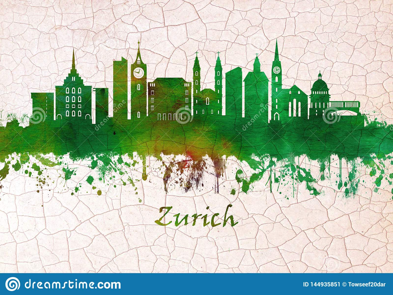 Zurich Switzerland skyline