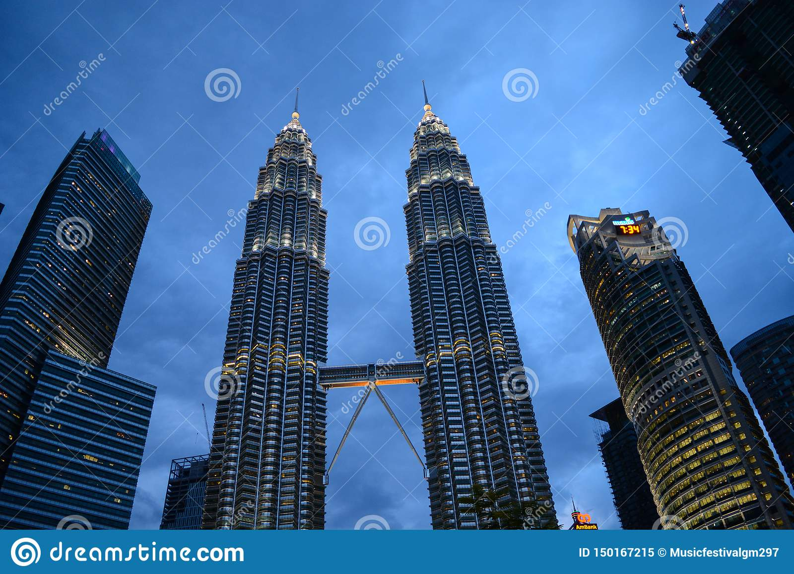 Skyline da cidade de Kuala Lumpur, Malaysia