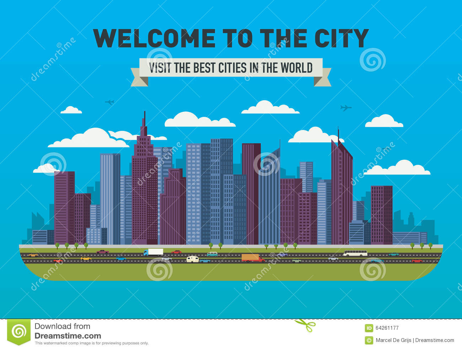 Skyline da cidade do vetor