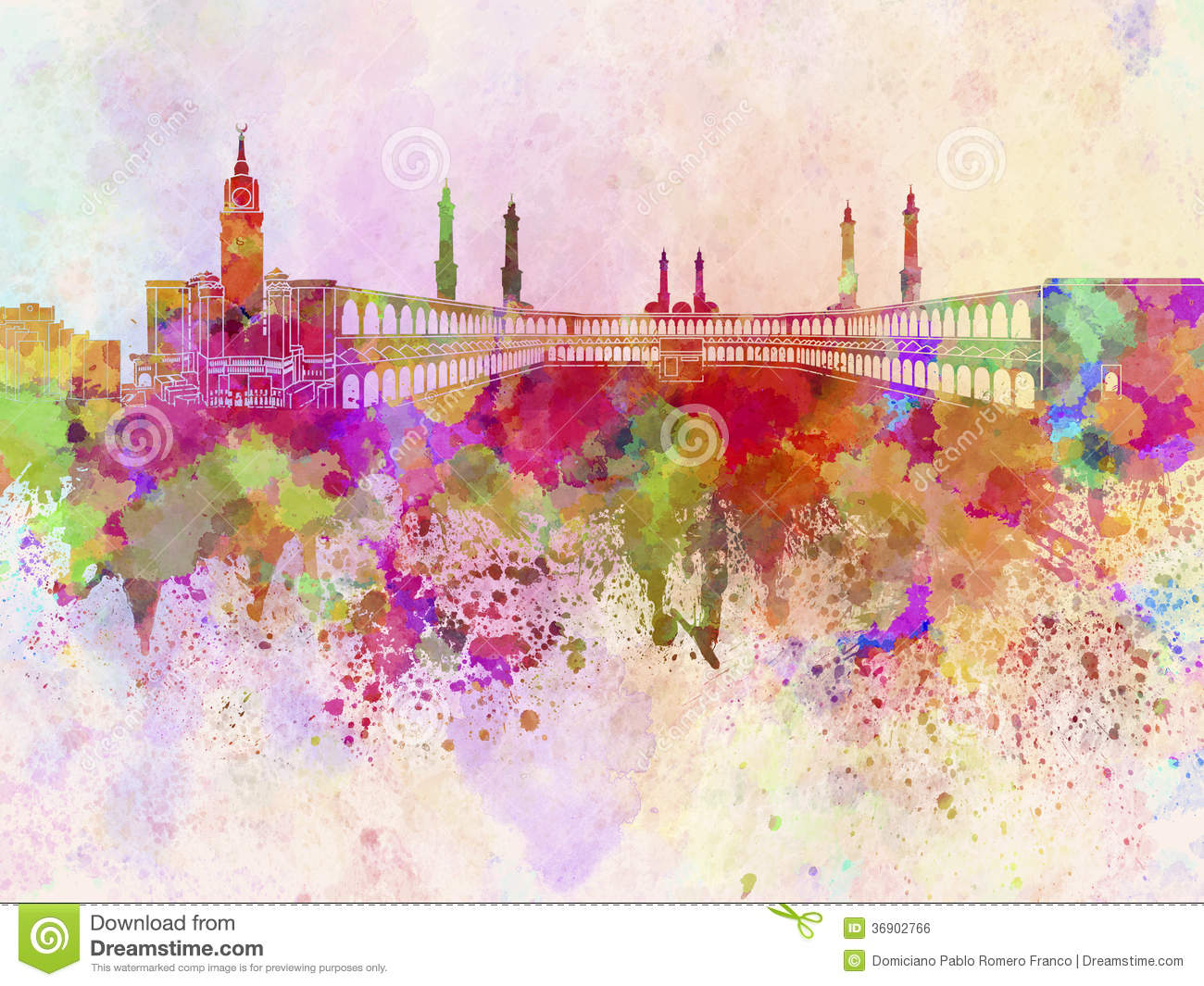 Artist Painting Mural Stock Photography Free