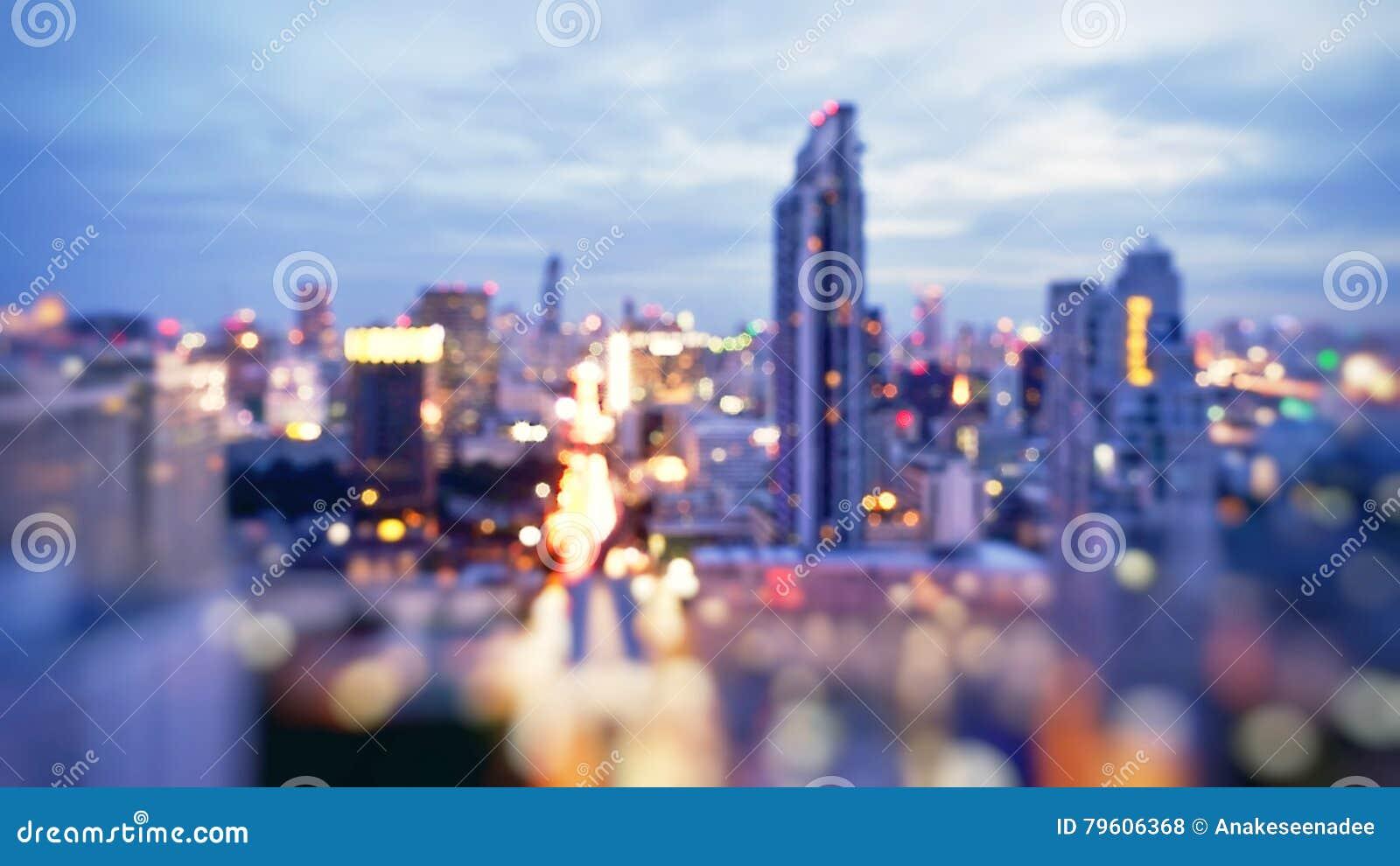 Skyline da noite de Banguecoque