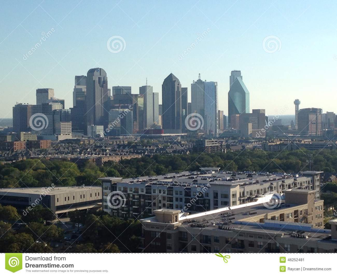 Skyline Of Dallas Texas Uptown View Editorial Photo Image 46252481