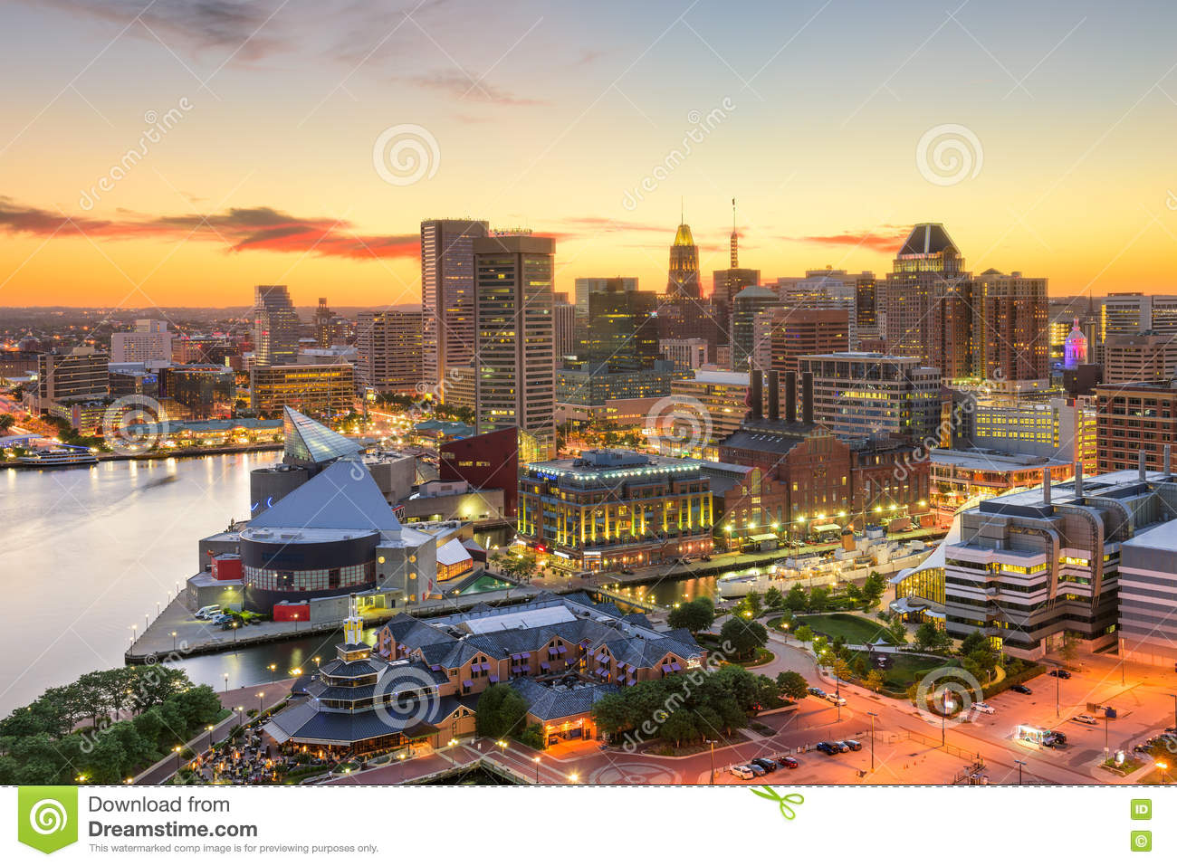 Skyline de Baltimore Maryland