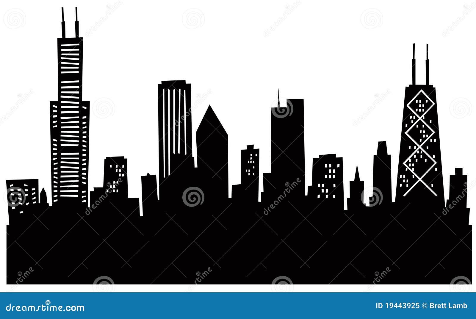Skyline de Chicago dos desenhos animados
