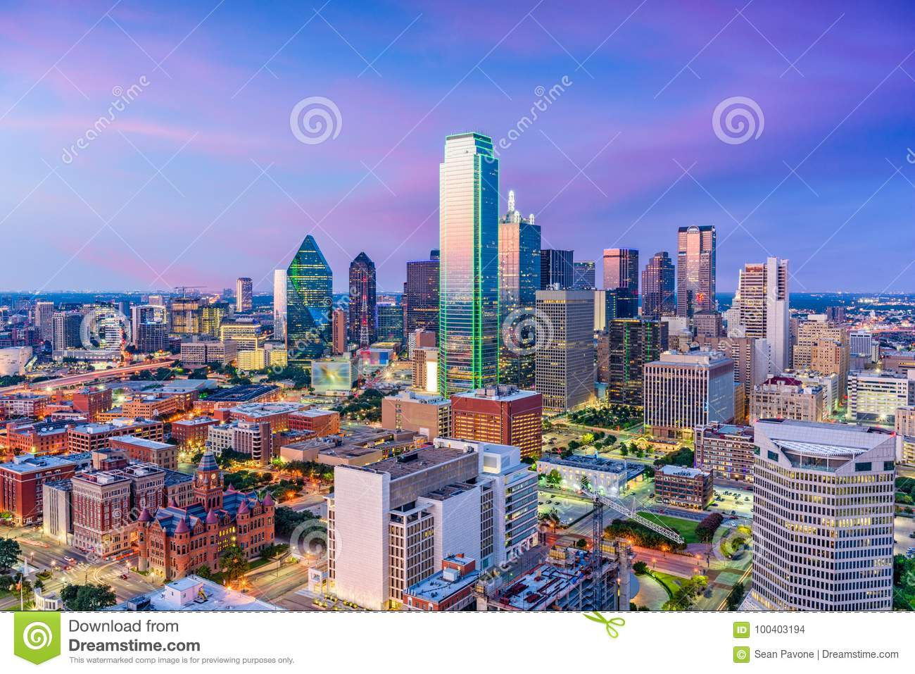 Skyline de Dallas Texas