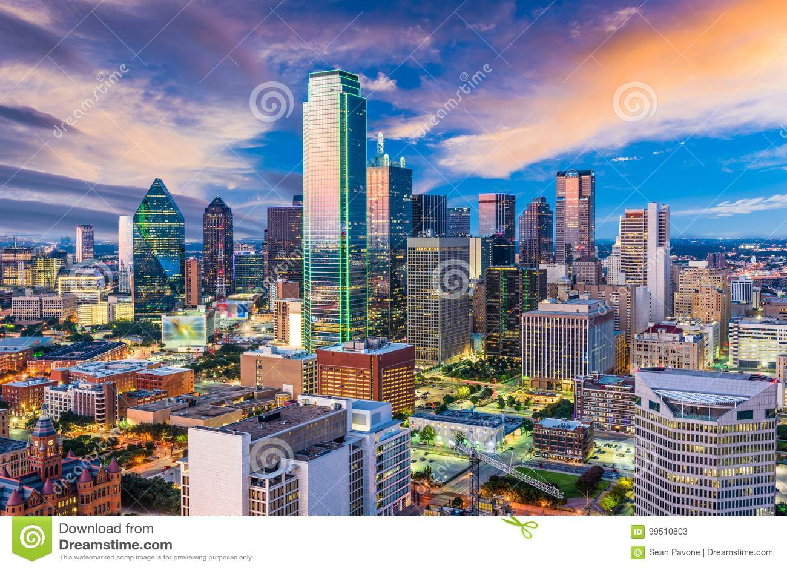 Skyline de Dallas Texas