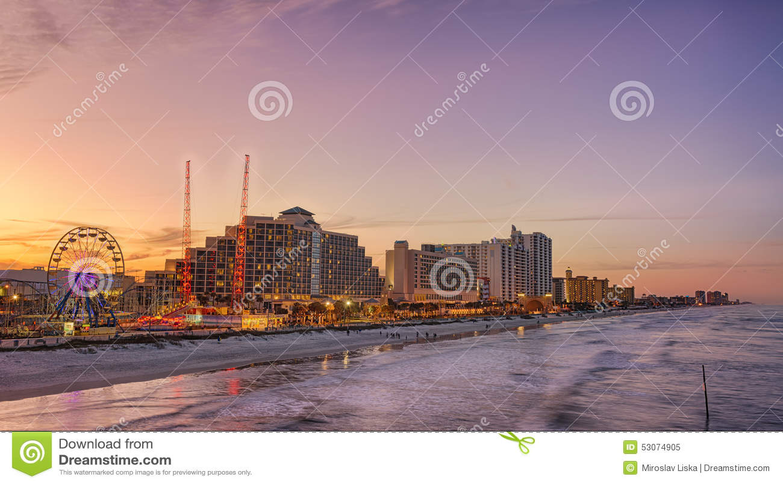 Skyline de Daytona Beach, Florida
