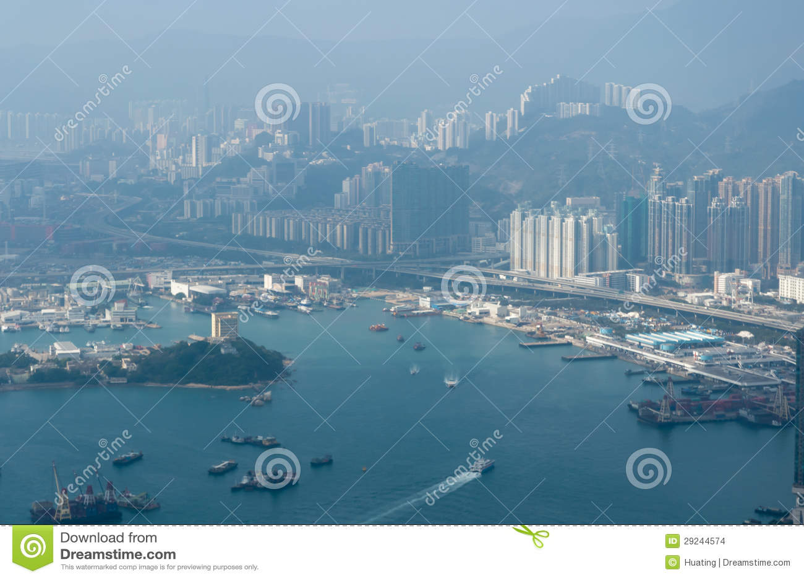 Download Skyline de Hong Kong imagem de stock editorial. Imagem de cidade - 29244574