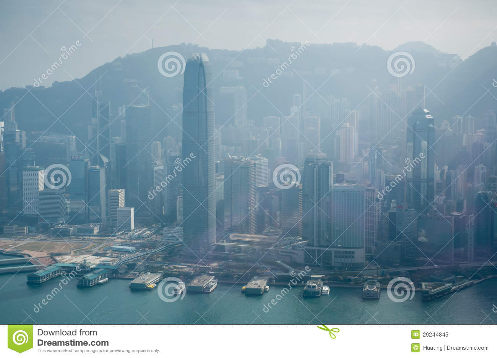 Download Skyline de Hong Kong imagem editorial. Imagem de cityscape - 29244845