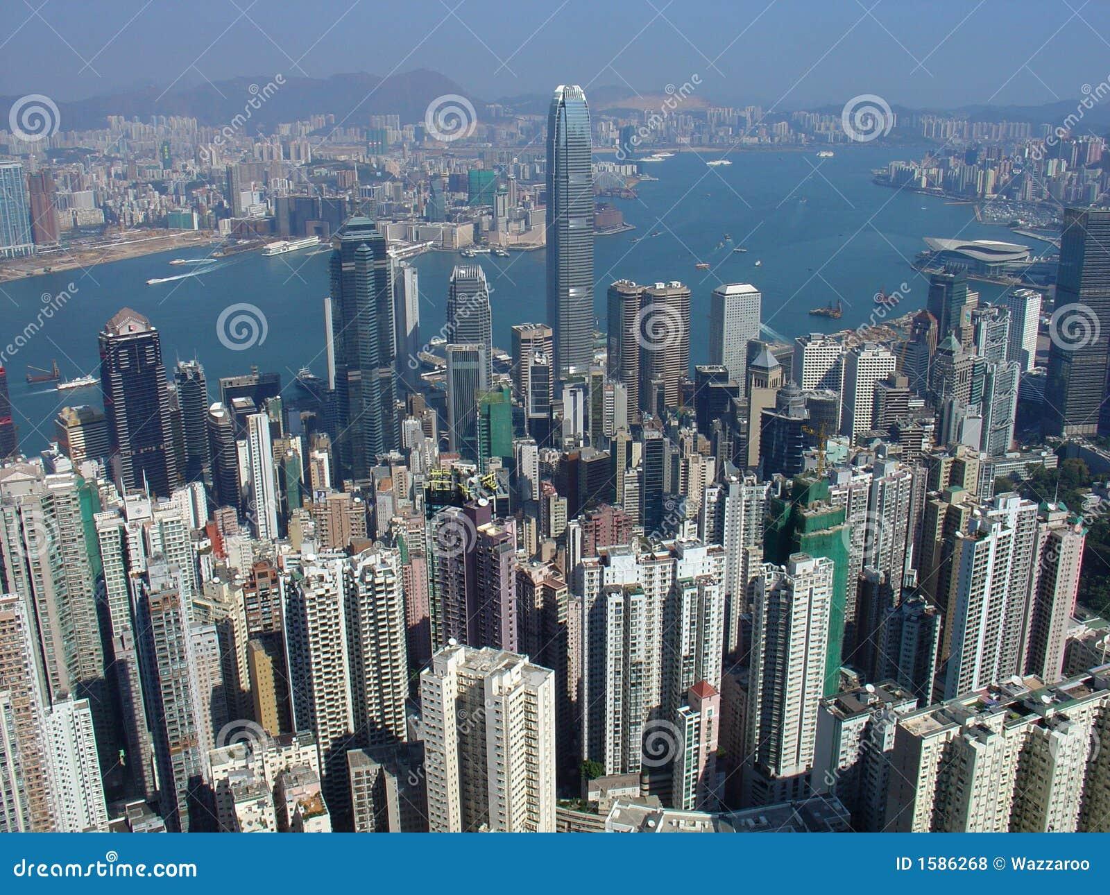 Skyline de Hong Kong do pico