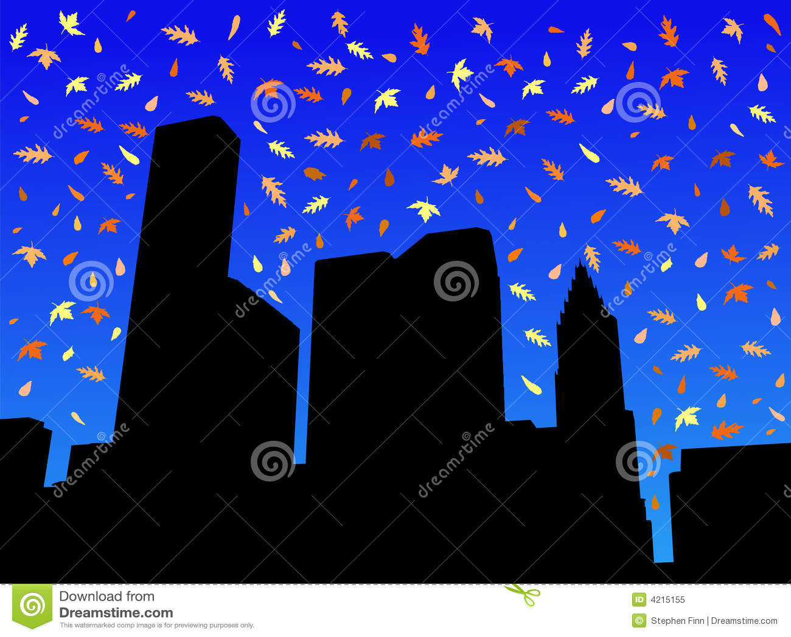 Skyline de Houston no outono