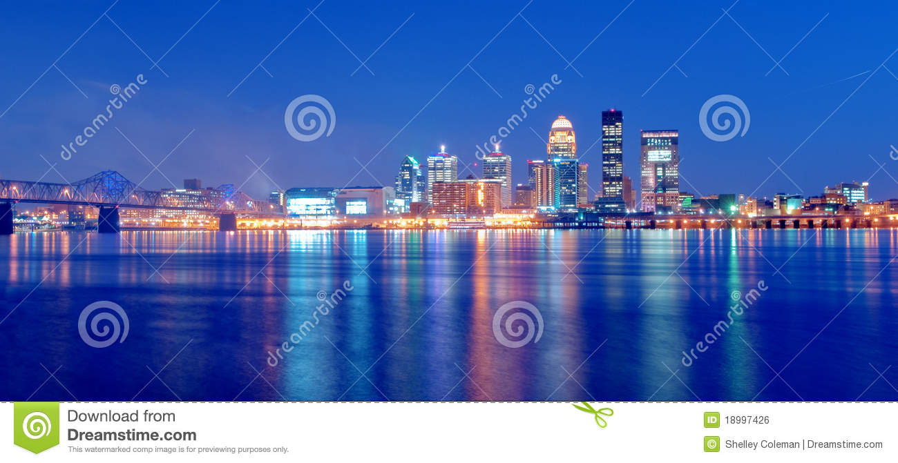 Skyline de Louisville, Kentucky na noite