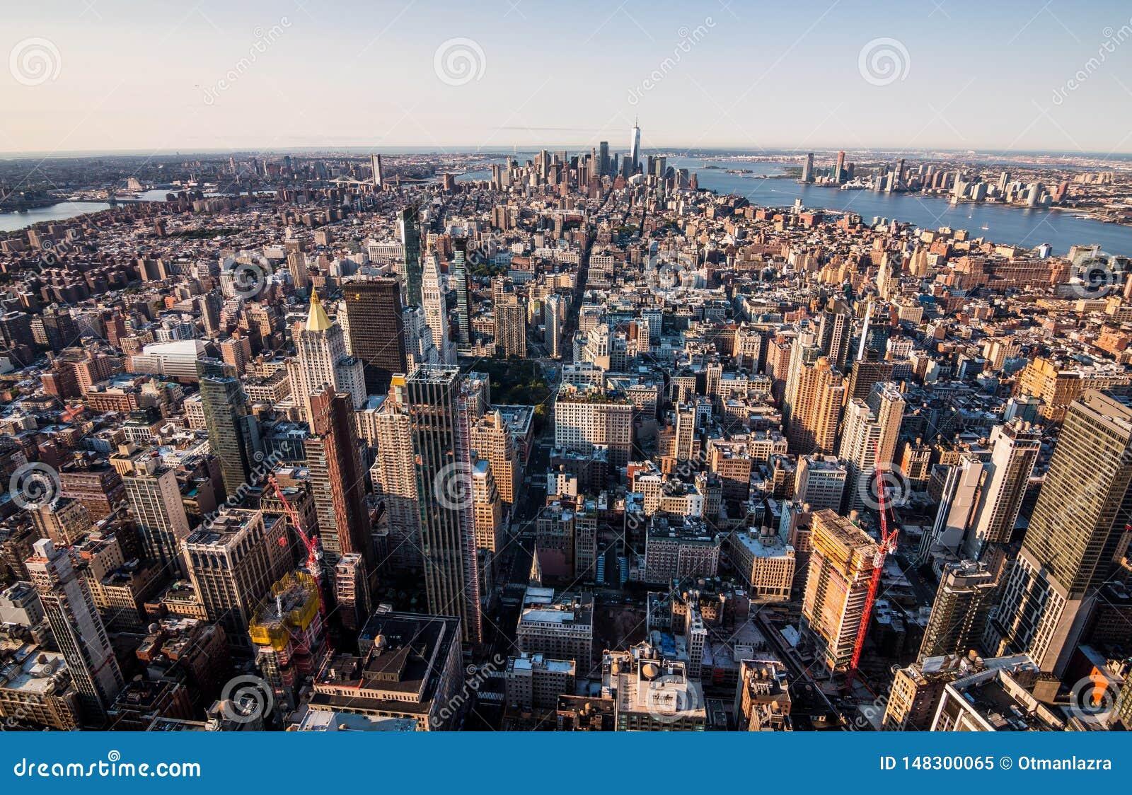 Skyline de Manhattan em New York