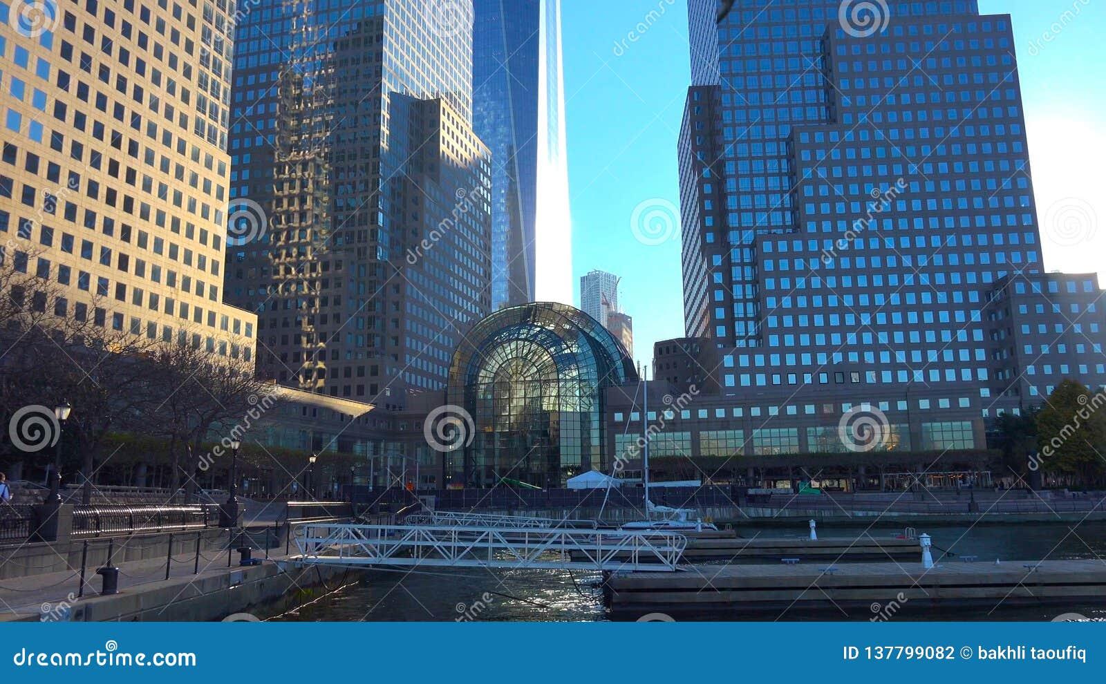 Skyline de New York City Manhattan, U S A - arranha-céus em New York