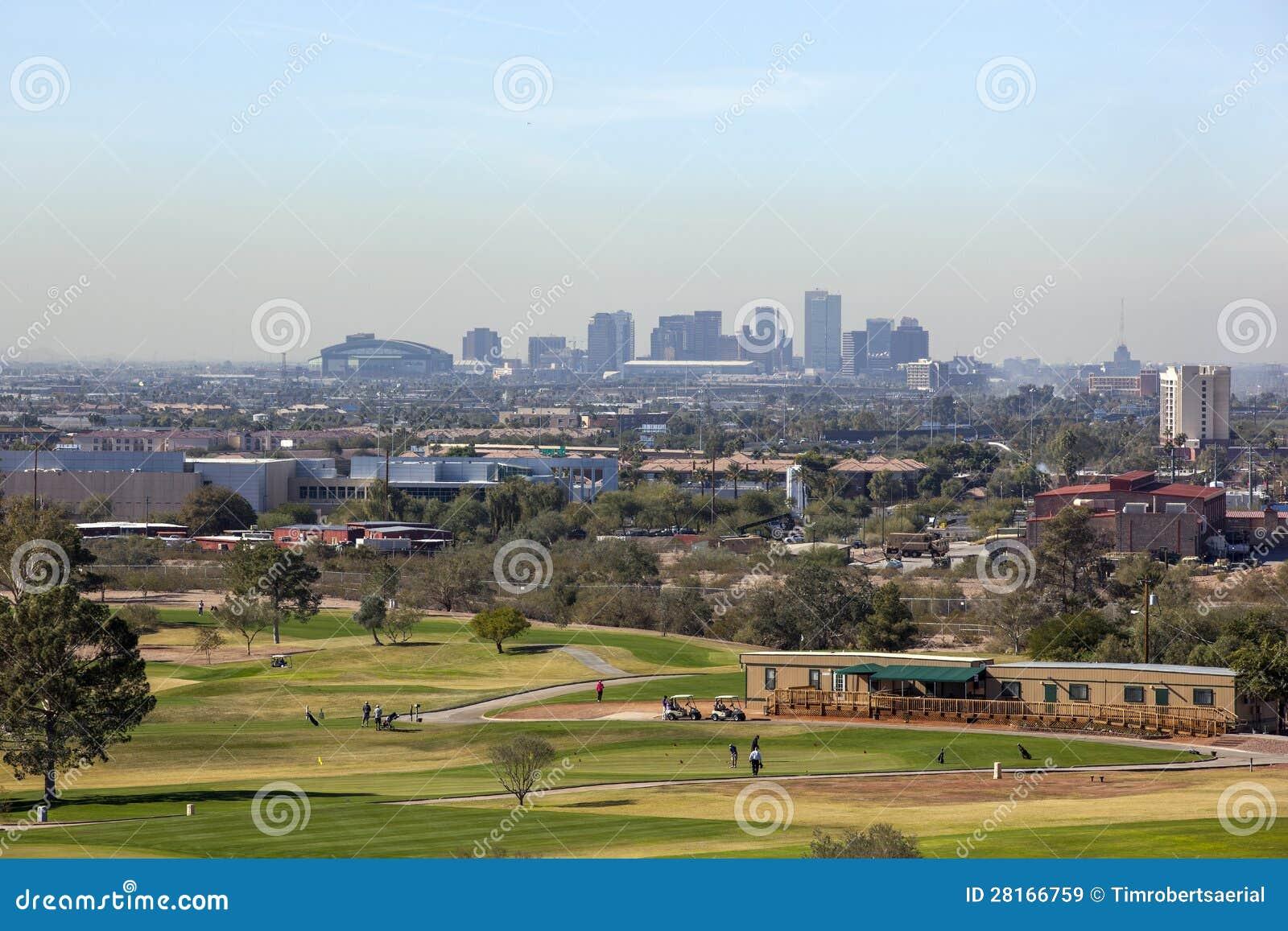 Skyline de Phoenix do centro, AZ