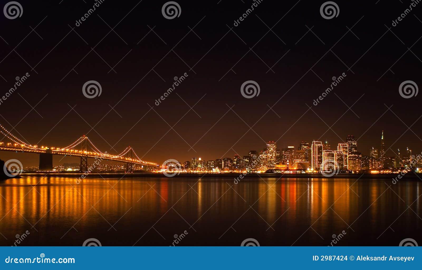 Skyline de San Francisco na noite