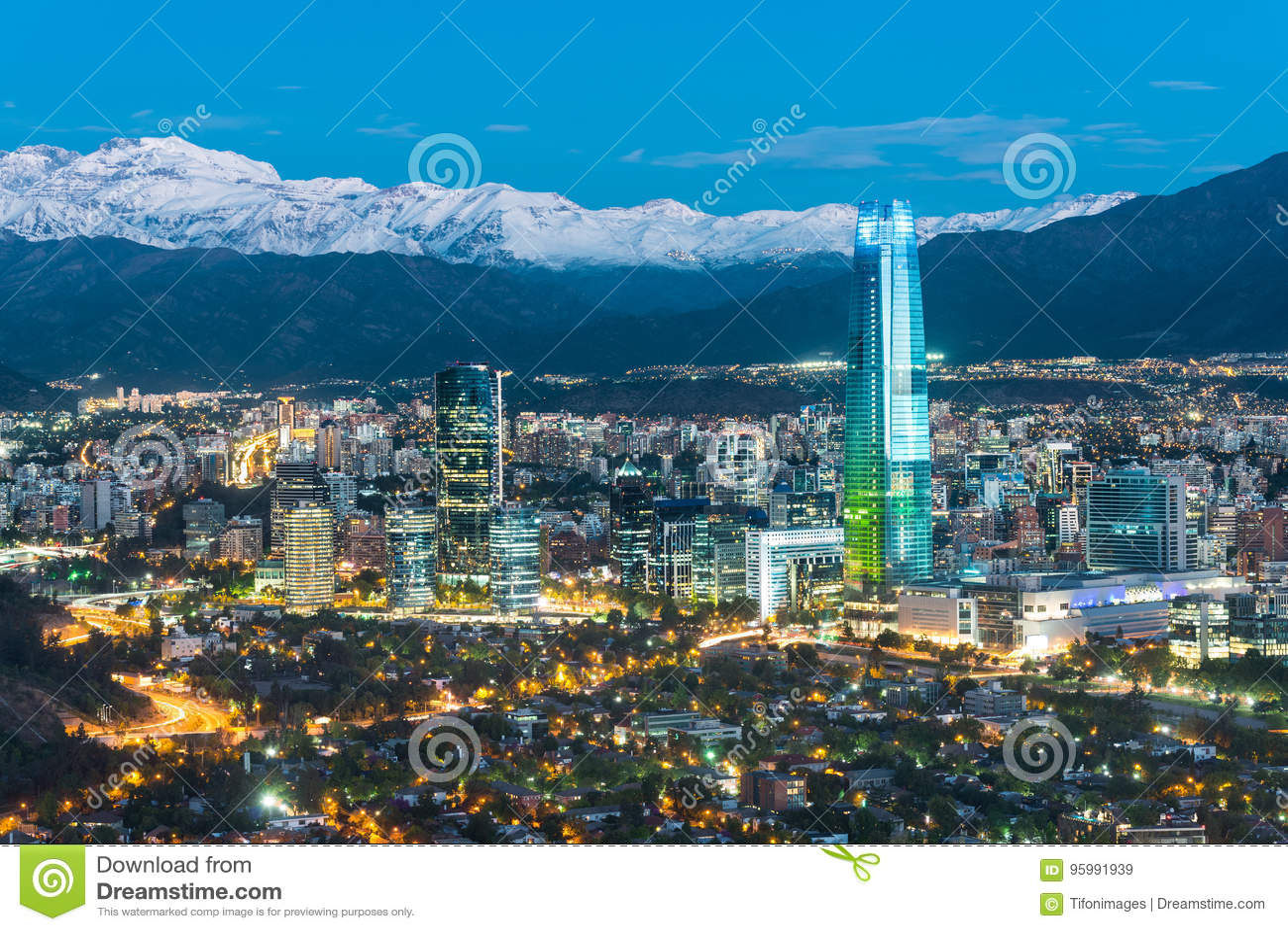 Skyline de Santiago do Chile