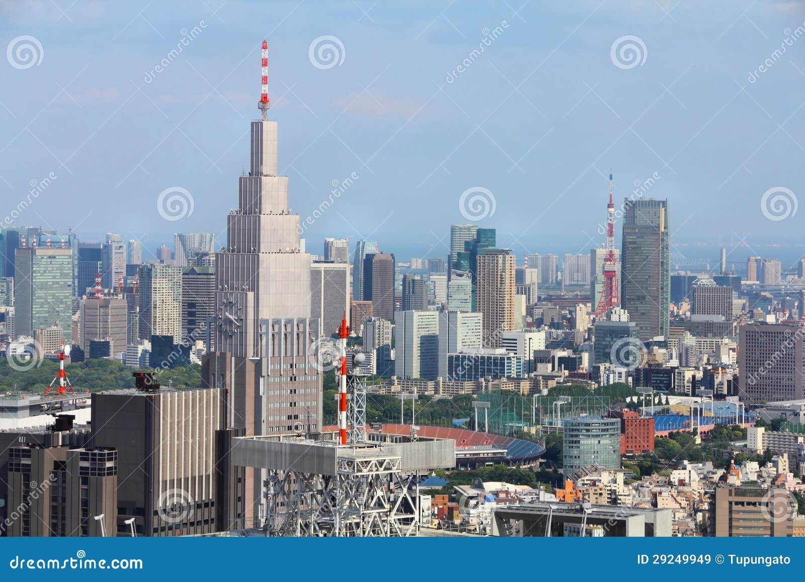 Download Skyline de Tokyo imagem de stock. Imagem de contemporary - 29249949