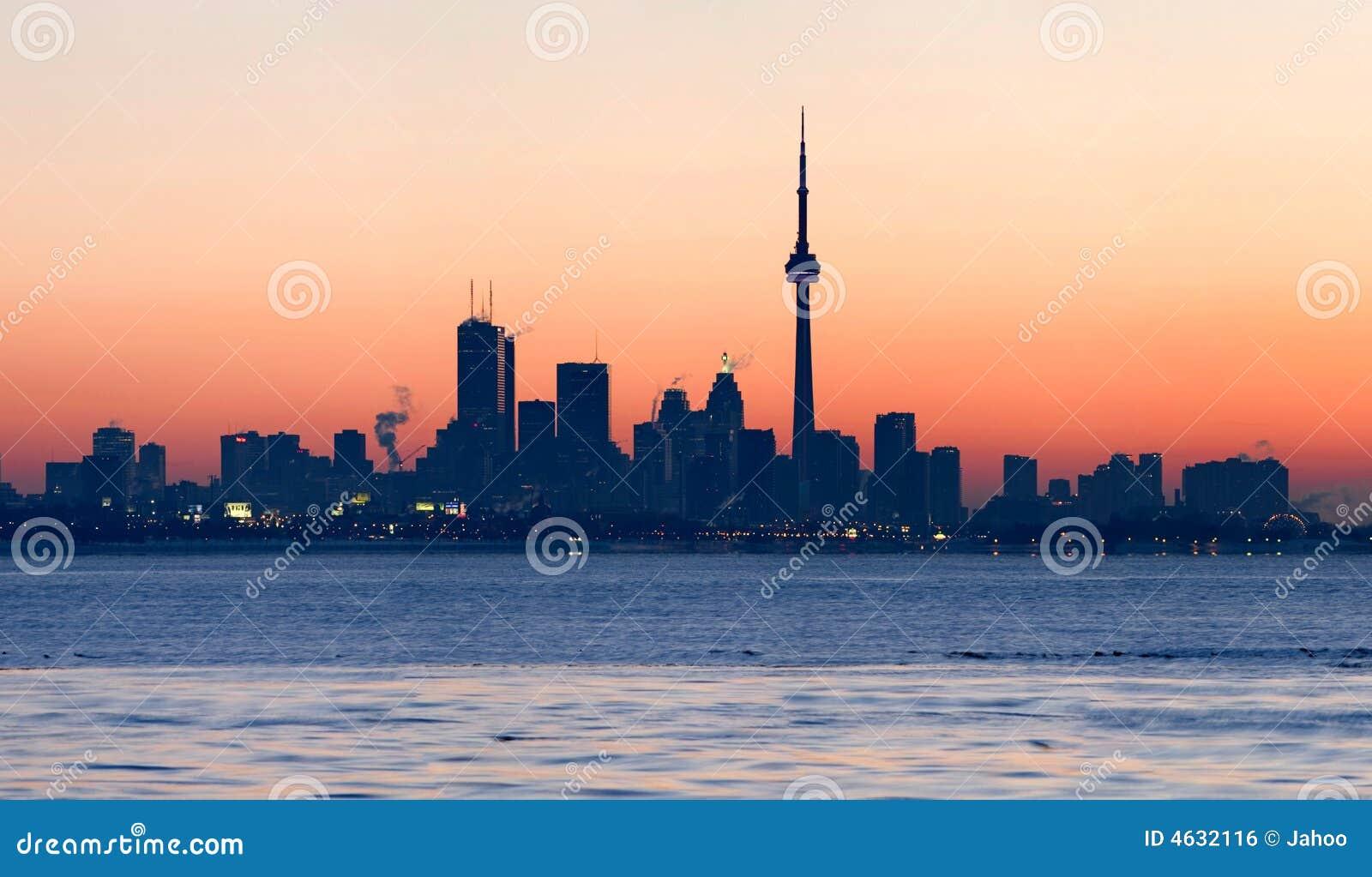 Skyline de Toronto no alvorecer