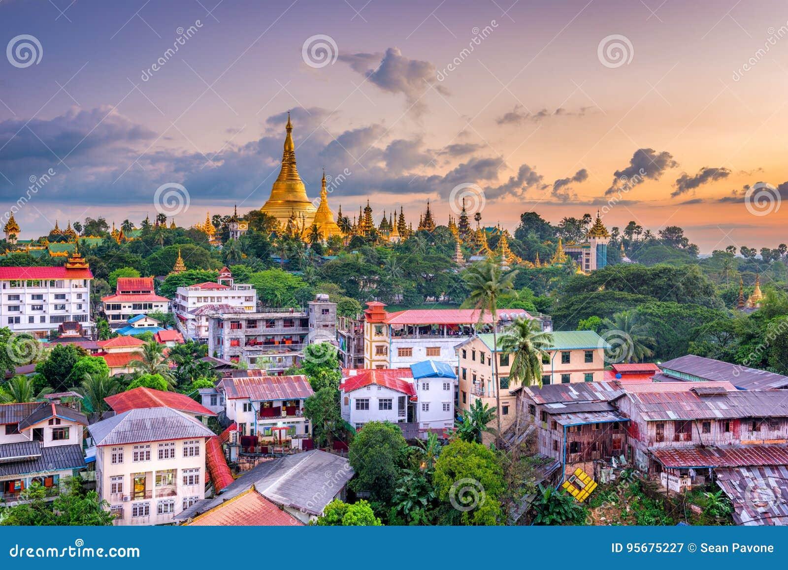 Skyline de Yangon, Myanmar