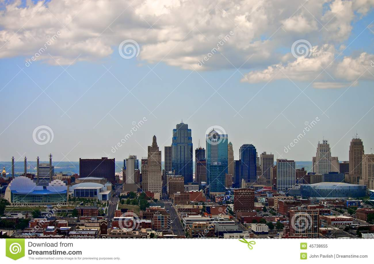Skyline do centro de Kansas City