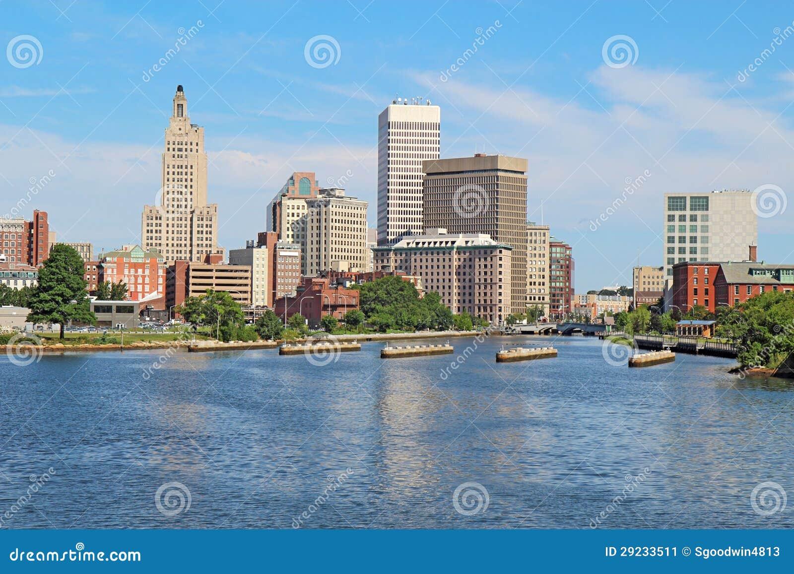 Download Skyline Do Providência, Rhode - Ilha Imagem de Stock - Imagem de edifícios, riverfront: 29233511
