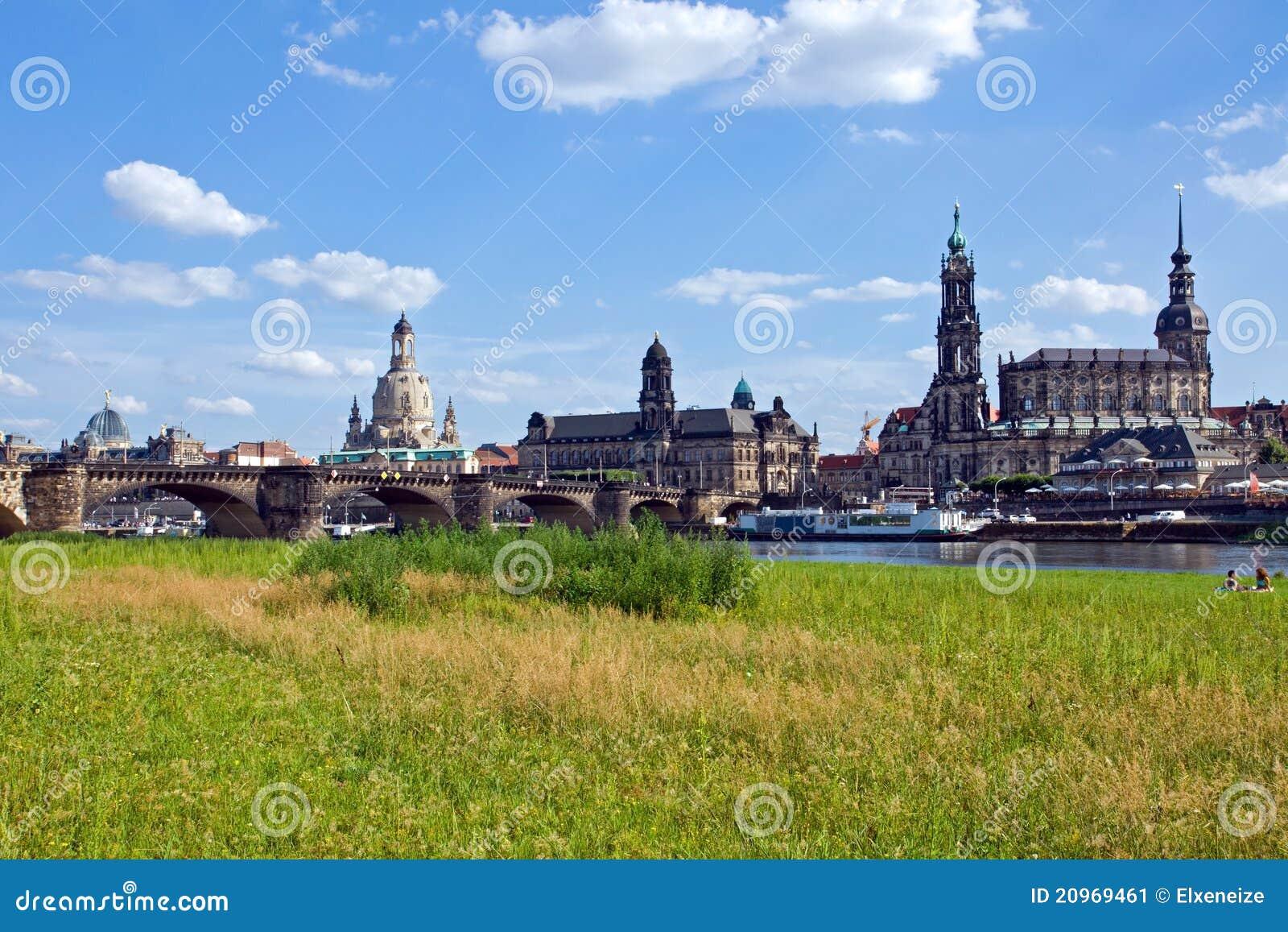 the skyline of dresden stock image image 20969461. Black Bedroom Furniture Sets. Home Design Ideas