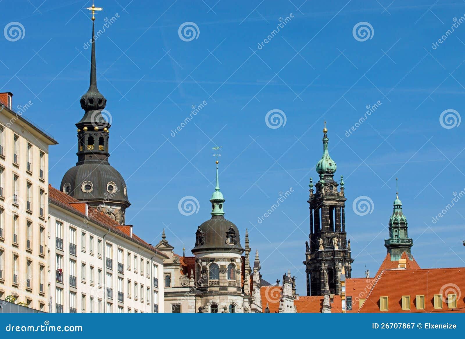 Skyline histórica de Dresden