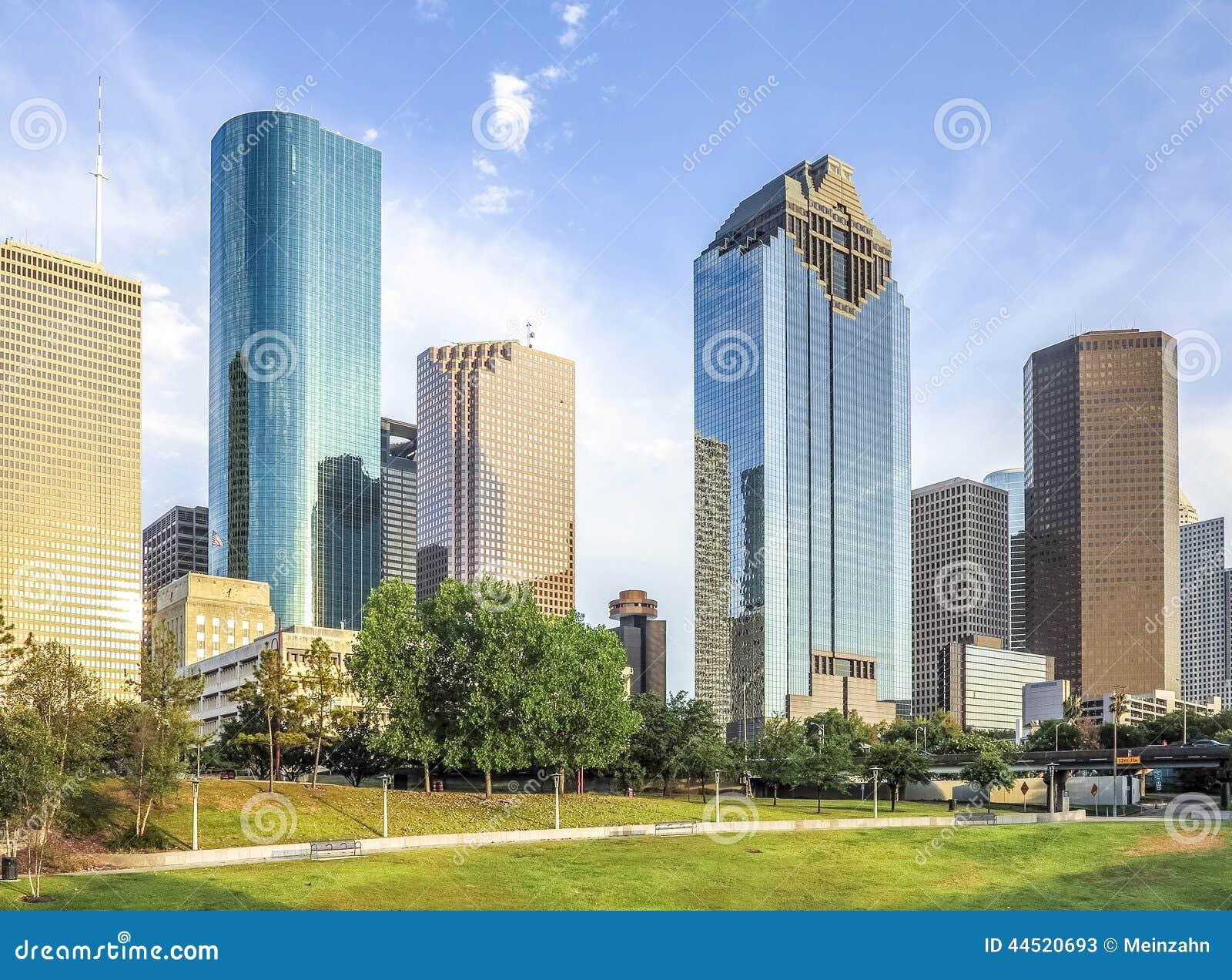 skyline of houston texas stock photo image 44520693. Black Bedroom Furniture Sets. Home Design Ideas