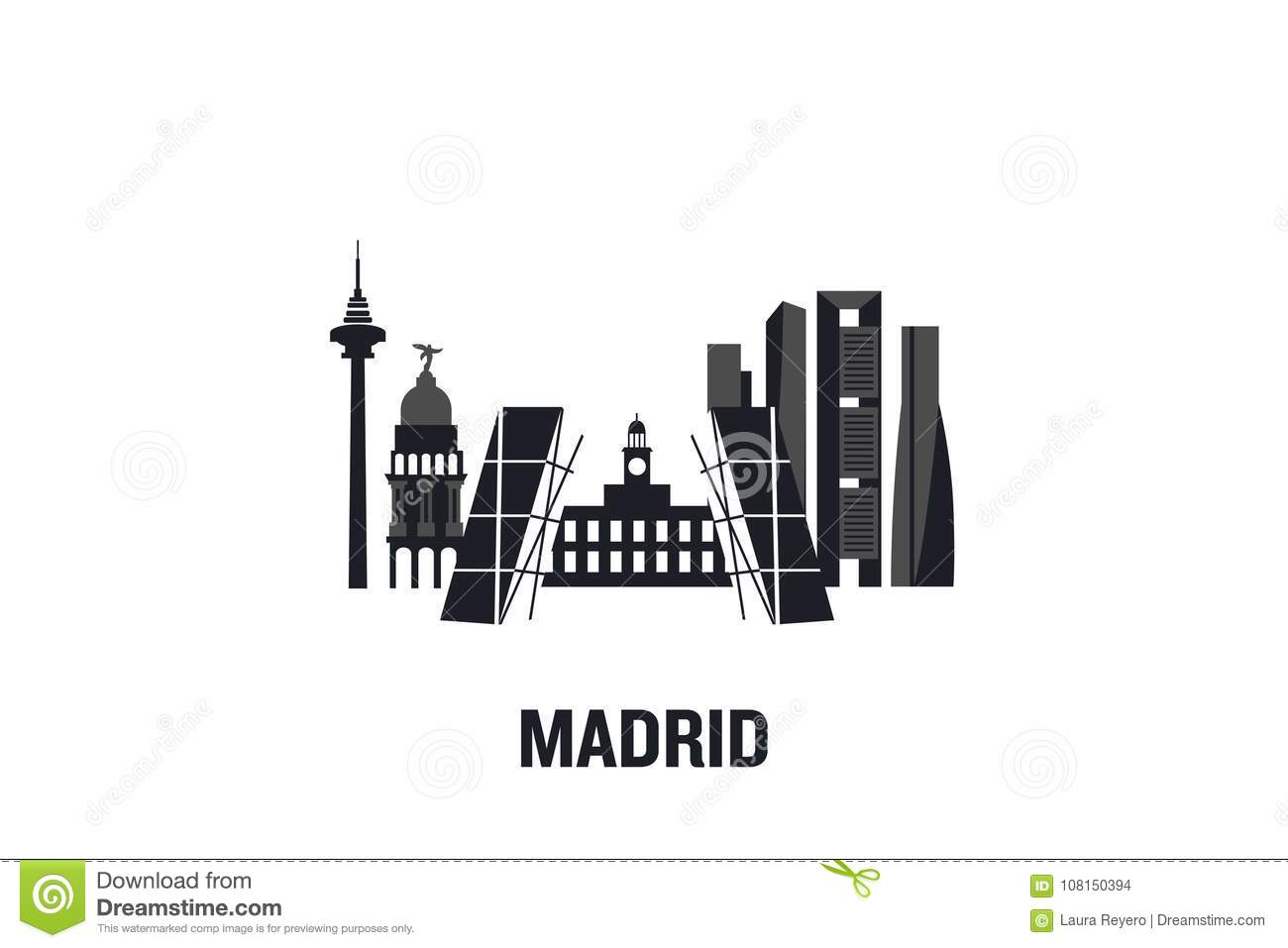 Madrid art design concept.