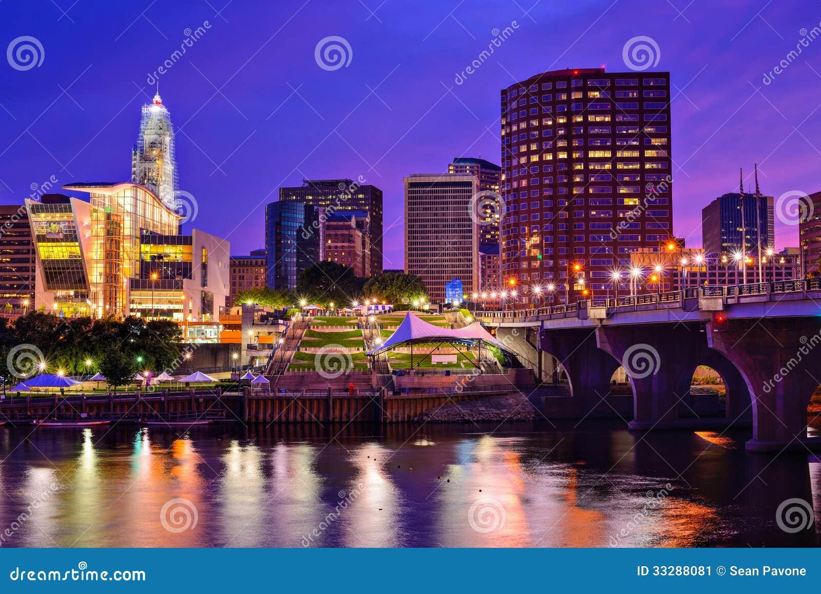 Skyline im Stadtzentrum gelegenen Hartfords, Connecticut