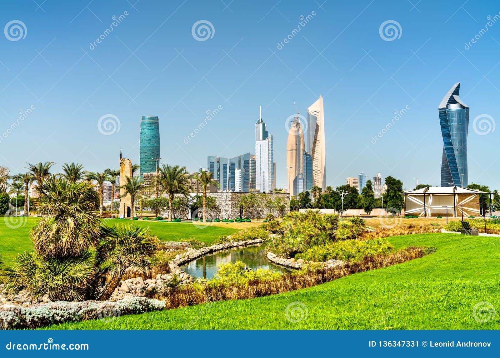 Skyline Of Kuwait City At Al Shaheed Park Stock Image - Image of
