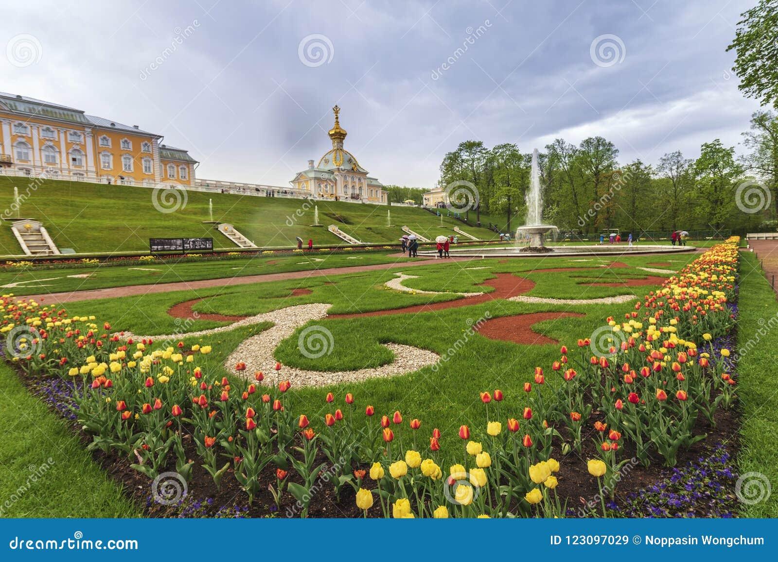 Download Peterhof Palace Saint Petersburg Russia Editorial Stock Image    Image Of Skyline, Garden:
