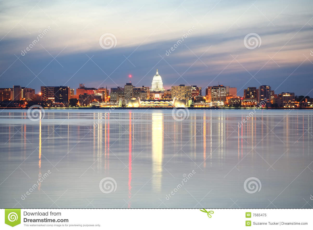 skyline of madison wisconsin stock image image of architecture