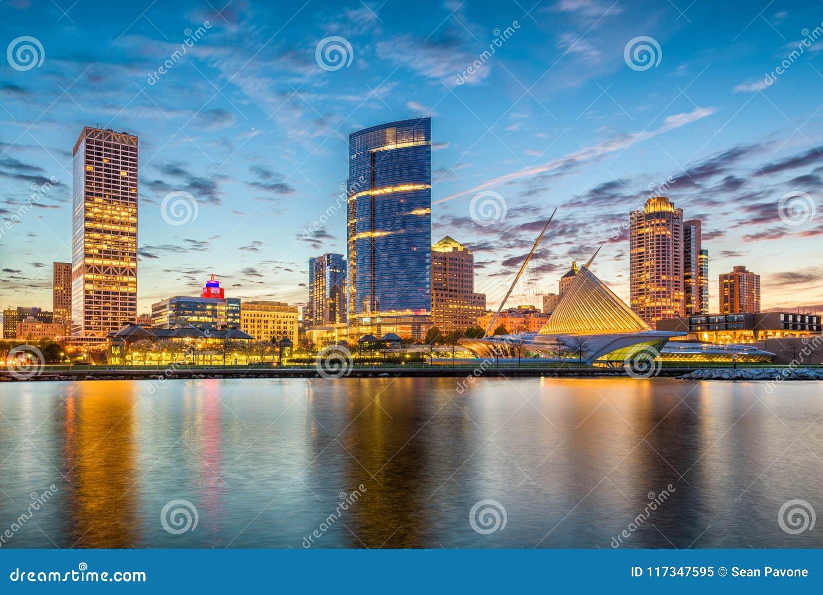 Skyline Milwaukee, Wisconsin, USA
