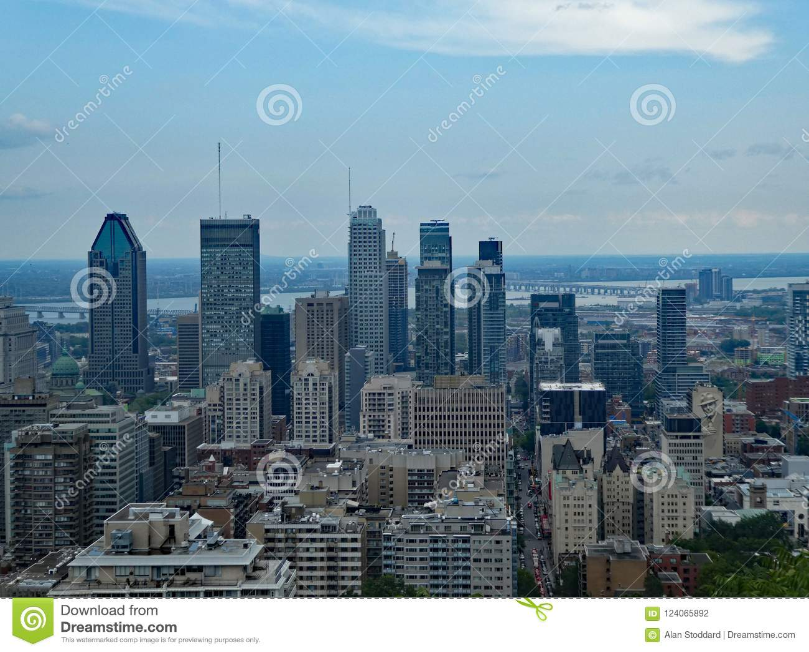 Montreal, Quebec, Canada Skyline