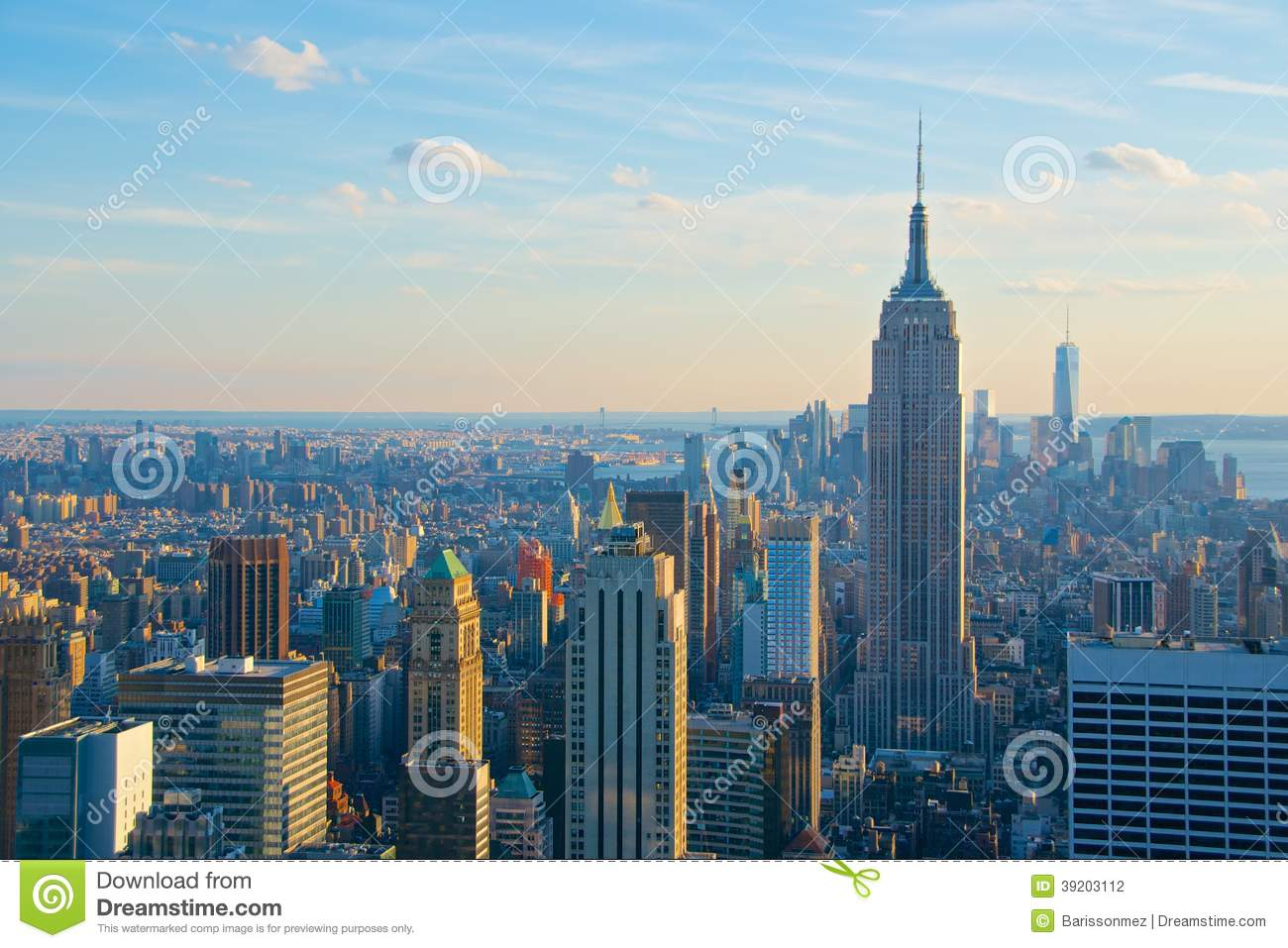 skyline new york city with empire state building. Black Bedroom Furniture Sets. Home Design Ideas