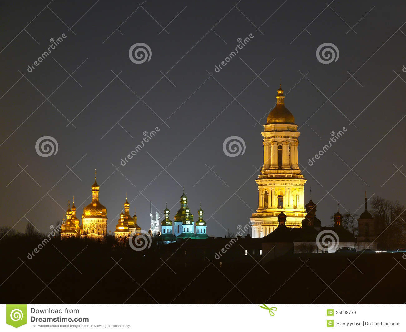 Download Skyline View Of Kiev Pechersk Lavra Complex Stock Image - Image of golden, authentic: 25098779
