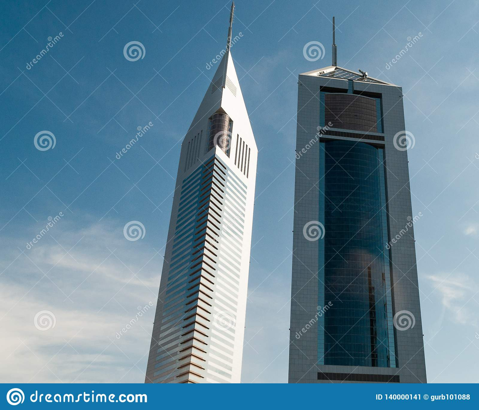 Skylscraper dos gêmeos de Dubai, UAE